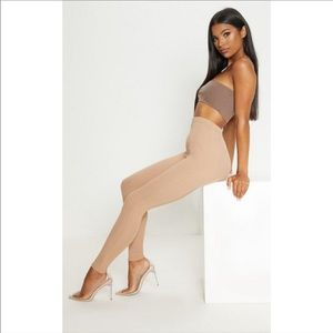 PLT Nude bandage leggings